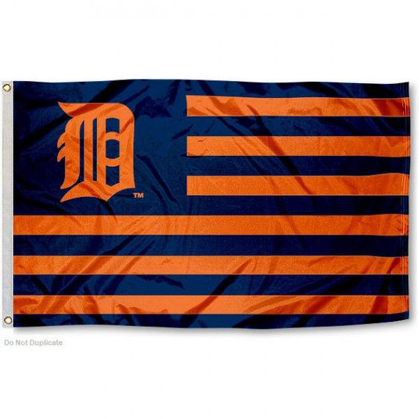 Detroit Tigers Nation Flag has a striped design, measures 3'x5' in size, is made of polyester, quad stitched flyends, and is viewable on both...