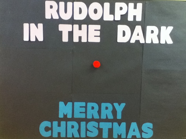 Christmas Bulletin Board Rudolph The Red Nosed Reindeer