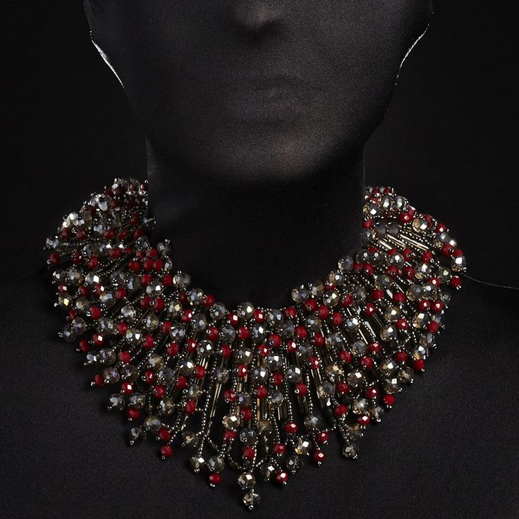 """Once when I was living in the heart of a pomegranate, I heard a seed saying, [...] I shall be strong and beautiful through all the seasons."""" K. Gibran #Snow-Grape Collection @nightmarket.it #026 pomegranate #necklace #jewellery #accessories #monday"""