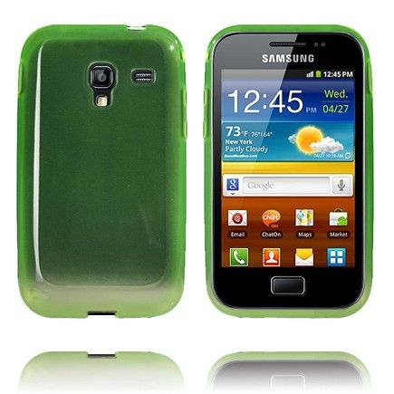Soft Shell Transparent (Grøn) Samsung Galaxy Ace Plus Cover