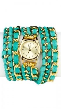 Wear Watches, Turquoise Wraps, Leather Wraps, Turquoise Pink, Small Face, Accessories, Lambs Leather, Wrap Watches, Wraps Watches