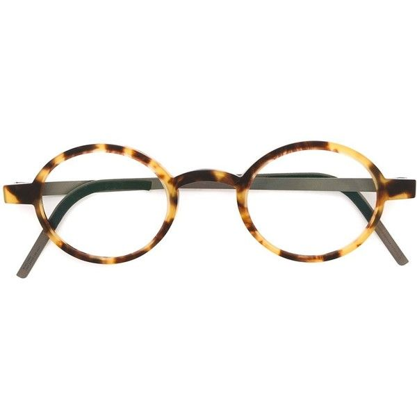 9943323f1f Lindberg Oval Frame Glasses ( 428) ❤ liked on Polyvore featuring  accessories