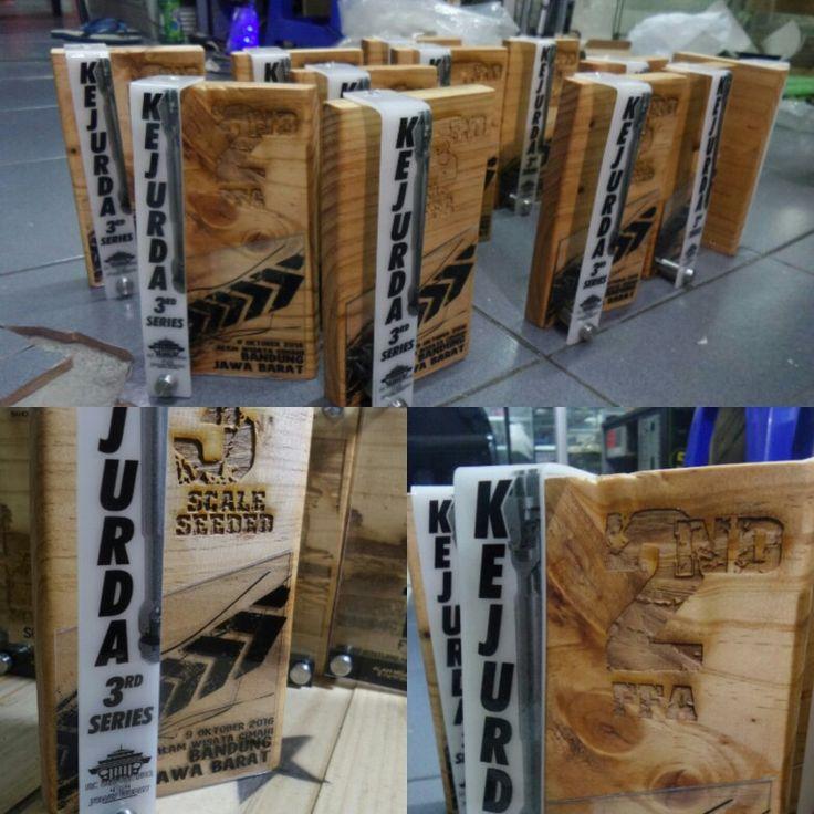 #trophy #handmade #custom #idea #wood #pinus #akrilik #bandung #indonesian