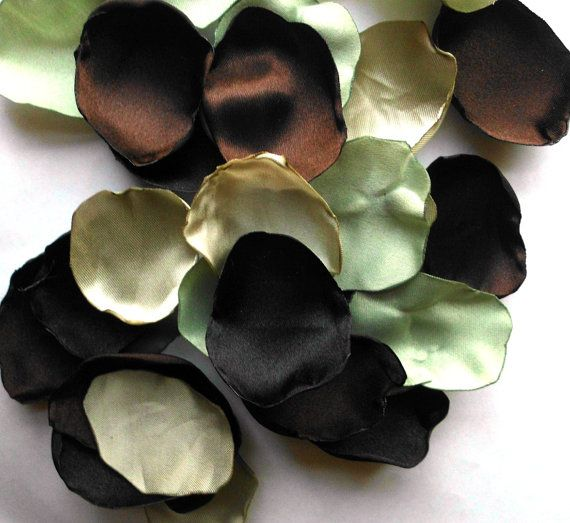 Camo Flower Petals 100 Handmade Camo Wedding by AfternoonDelite, $15.00