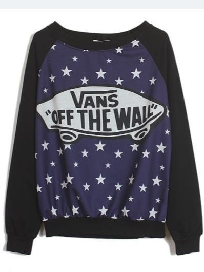 """Vans """"off the wall"""" star pattern pull over"""
