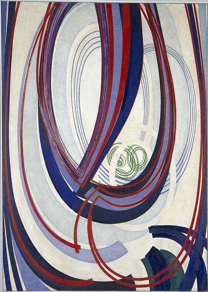 (Kupka, Traits, plans, espace III, 1921, Centre Pompidou)