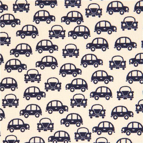 Dunkelblauer Autostoff für Jungs von Kokka Japan
