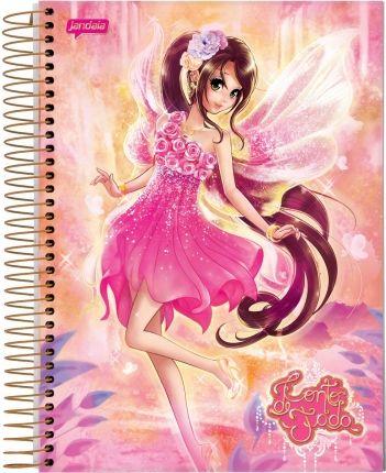 Jandaia - CADERNO UNIVERSITÁRIO CONTO DE FADA #fadas #fairies #notebook