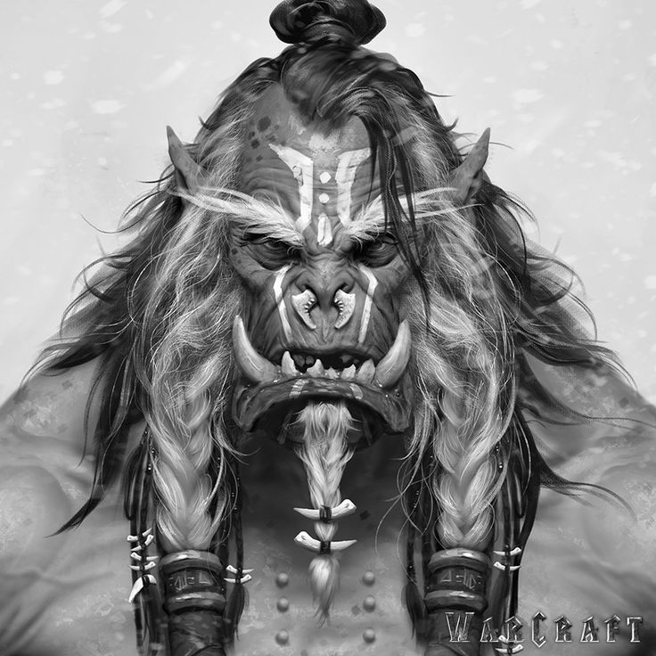 The Art of Warcraft Film - Frostwolf Shaman Elder, Wei Wang on ArtStation at https://www.artstation.com/artwork/1WyAX