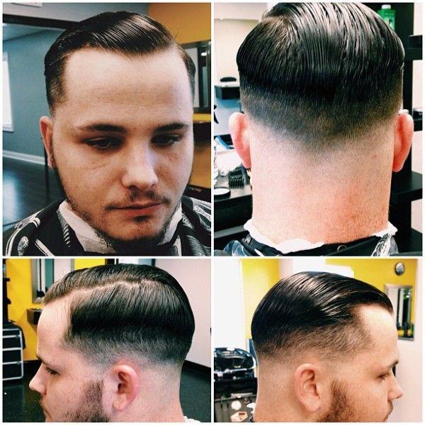 Old School barber shop haircut