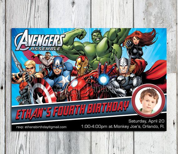 22 best images about Avengers – Marvel Party Invitations