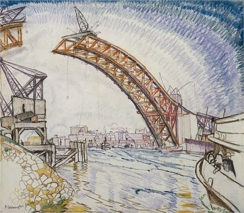 Grace Cossington Smith (1892 - 1984) | Post- Impressionism| Before the arches met - 1930