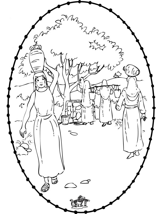 Isaac First Meets Rebekah Coloring Page See More Rebecca 1