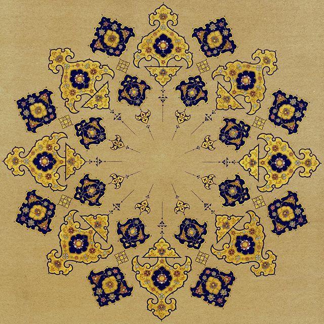 Daire çap 17.5 cm. #islamicart #tezhip #tazhib #tezhipsanati