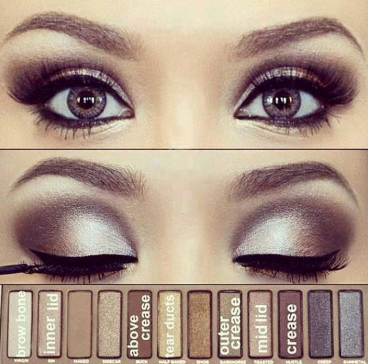 Smokey Eye with Naked 1 Palette - just got this palette today