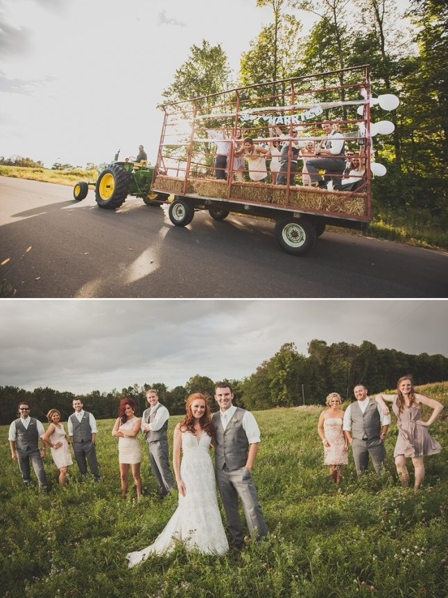 This is the wedding of my dreams :) We could ride to the reception in a wagon hitched to my Pappy's tractor :)