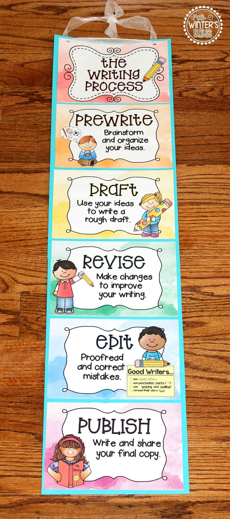 FREE! The Writing Process  These writing process printables can be used as an anchor chart or clip chart in your classroom. Perfect for teaching the stages of the writing process! Super Effective Program Teaches Children Of All Ages To Read. Incredible Results | http://qoo.by/2mHQ