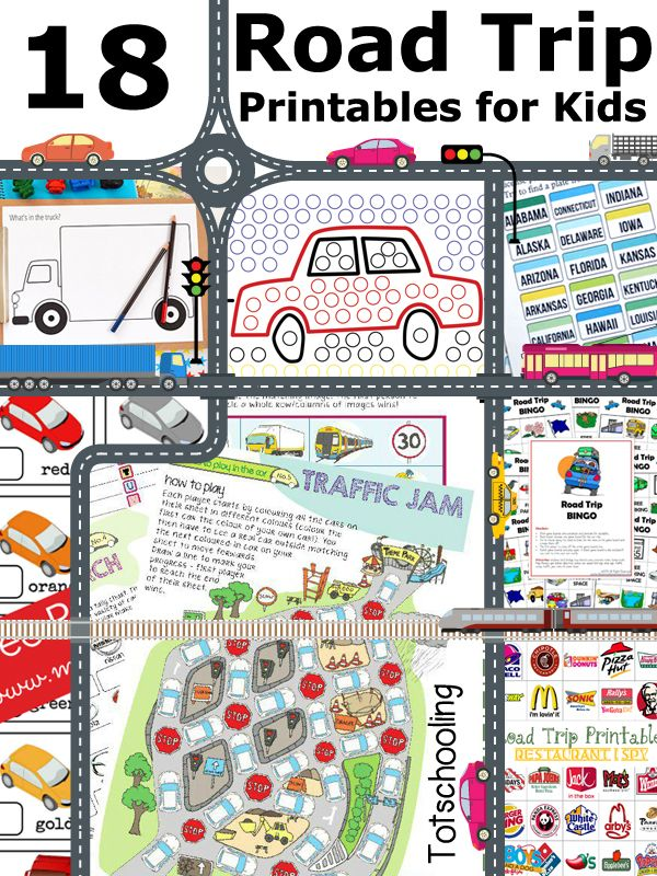 Free Road Trip Printables for Kids