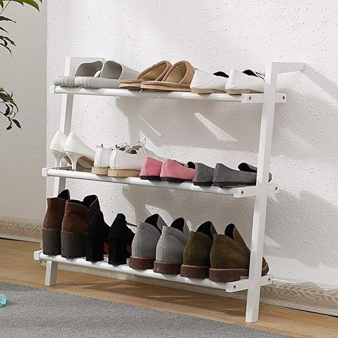 Best Amazon Com Handrail Shoe Rack Wooden Simple Home Living 640 x 480