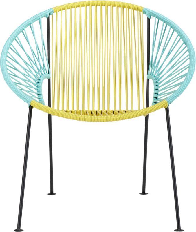 Best Ixtapa Yellow Aqua Lounge Chair In Outdoor Furniture Cb2 640 x 480