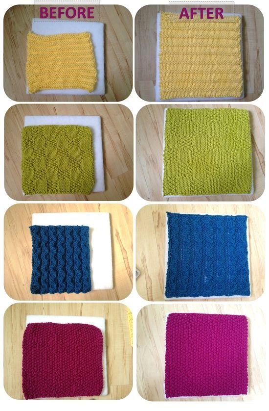 Tutorial for how to block acrylic yarn.