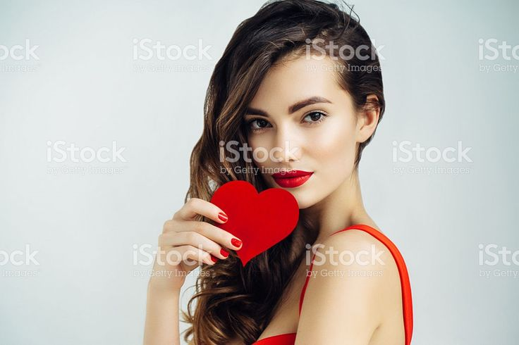 Beautiful girl holding artificial heart royalty-free stock photo