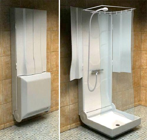 re:pin daviddurocher :: fold-up shower