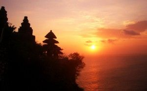 Uluwatu Temple, Bali. This temple is located on a cliff!