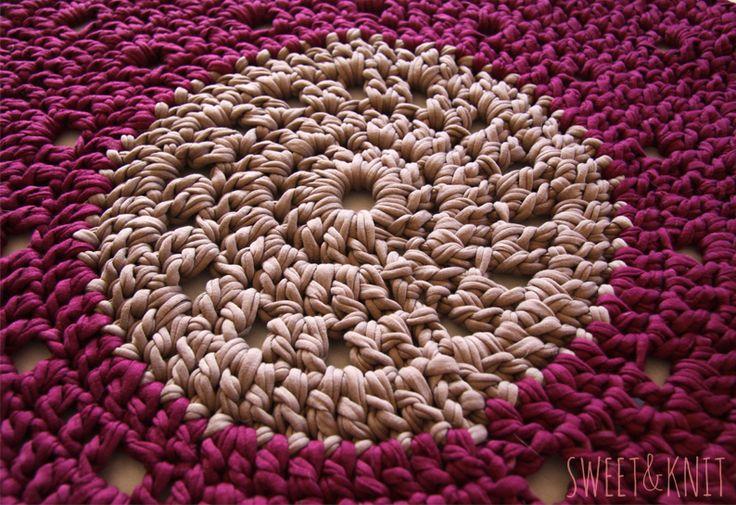 Sweet&Knit: Venta de alfombras de Ganchillo XXL (Trapillo)