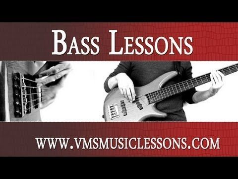 Bass Lessons: Finger Plucking the Bass Guitar (Beginner Technique) http://www.vmsmusiclessons.com/