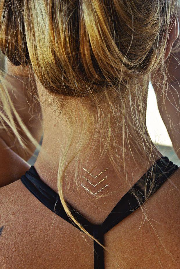 Metallic Jewelry Temporary Flash Tattoos - Cool Temporary Tattoos - Marie Claire