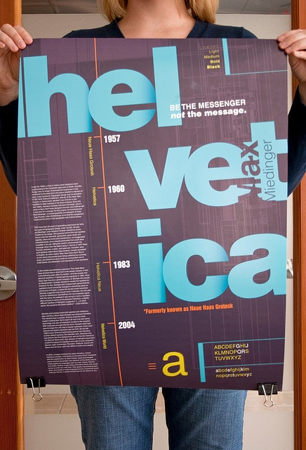 Helvetica Type Specimen Poster | Designer: Val Melo