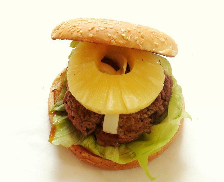 Recette de hamburger maison au boeuf et à l'ananas
