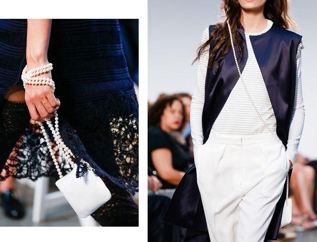 Thakoon Pearl Strap Bags.