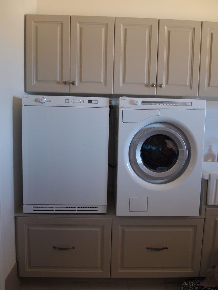Easy access to the washing machine in our clients laundry design