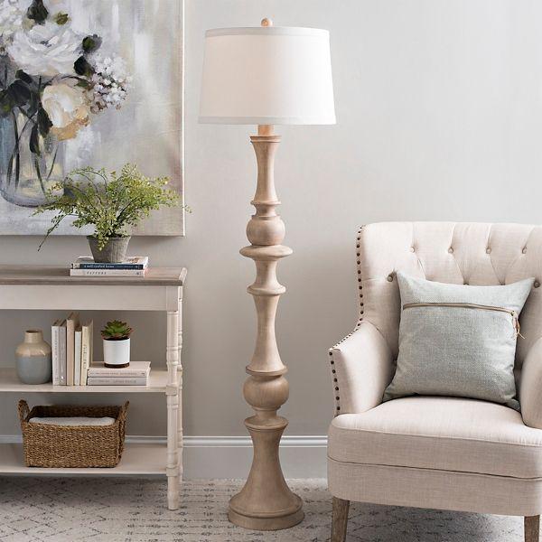 Elm Wood Laney Floor Lamp Kirklands Floor Lamp With Shelves