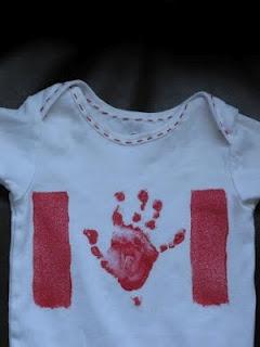 Hand Print CANADA Flag Shirt @Lauren Kameo