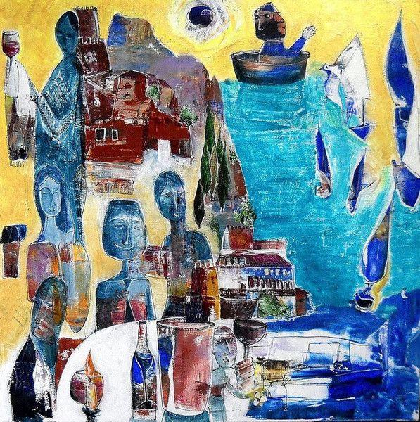 Dante ha scritto versi divini,io ho bevuto vini di di GRossi Artista su DaWanda.com