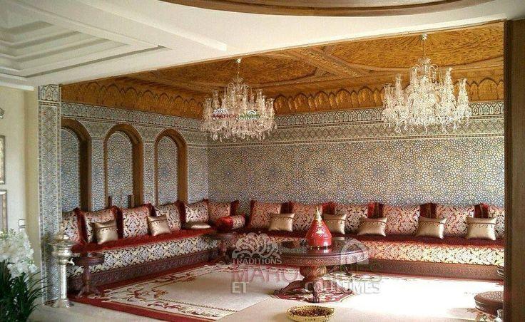 Best 25 les salons marocains ideas on pinterest - Salon marocain bleu roi ...
