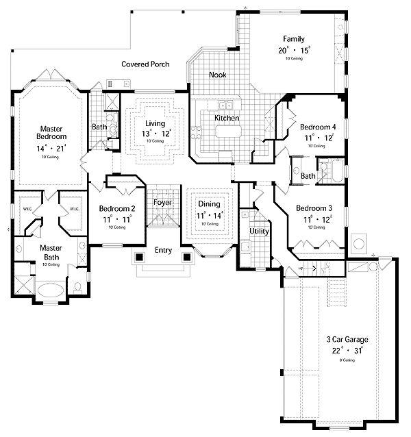 73 best Sims 3 House Plans images on Pinterest House blueprints - new blueprint for 3 car garage
