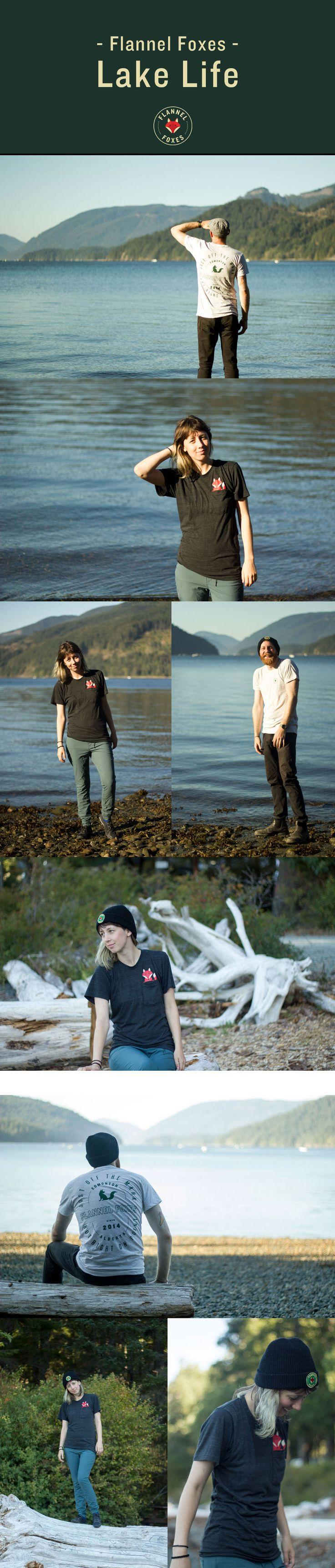 Flannel Foxes Unisex Clothing Line // Lake Life // Explore British Columbia