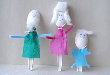 Plastic Spoon People  Your child can have a blast producing a story or a play with spoon people as the actors.