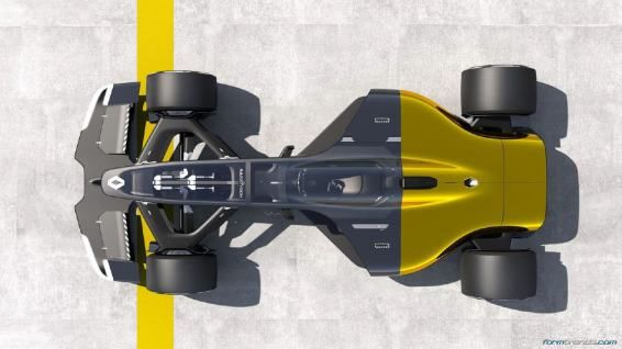 Renault RS 2027 Vision concept plan view
