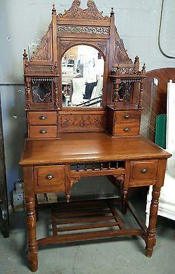 Details über Schreibtisch / Waschtisch / Schreibtisch mit Spiegel / Waschtisch mit Spiegel / Antiker Schreibtisch / Waschtisch