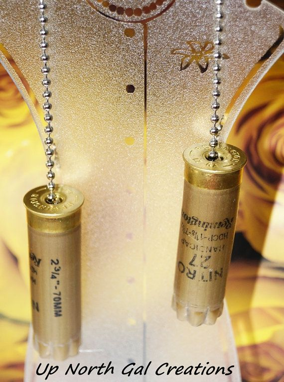 Shotgun Shell Fan/Light Pulls Recycled by UpNorthGalCreations