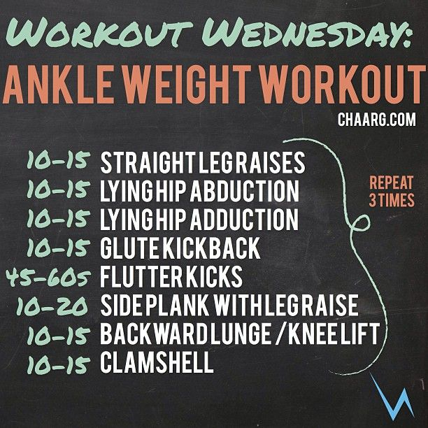 It's Workout Wednesday! Rain or shine - get to the gym! And YES, this workout is done with ankle weights. Don't have them? No problem - We share where to purchase them on the blog >> http://www.chaarg.com/ankle-weight-workout/ #inCHAARG
