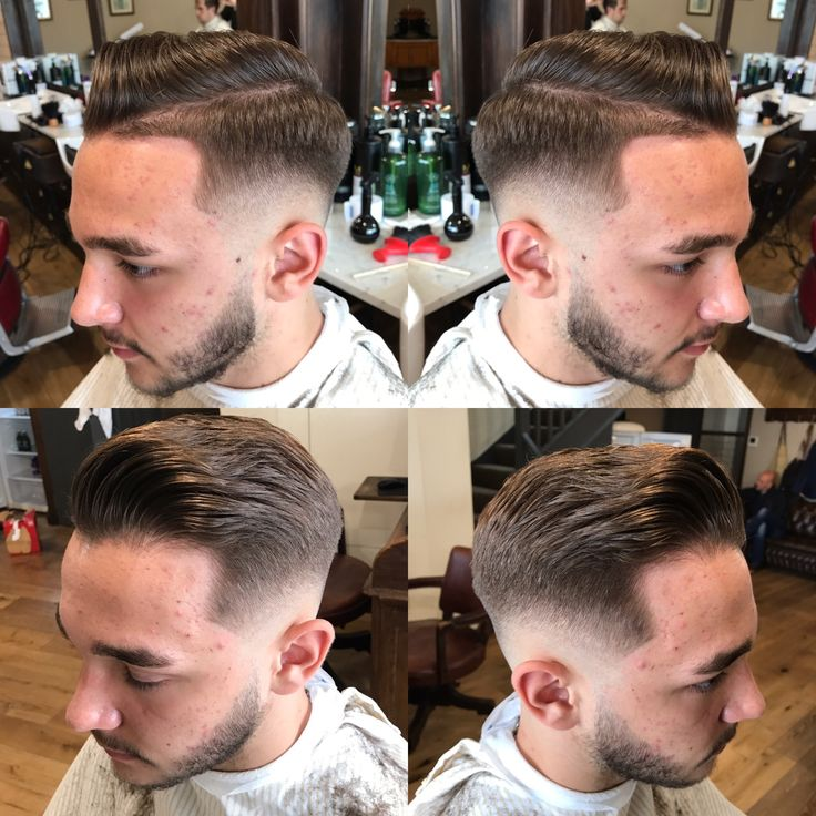 Skin fade pompadour by Emi at Beckets Northamton
