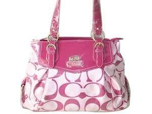 Coach Garnet Signature Pink Purses Handbags