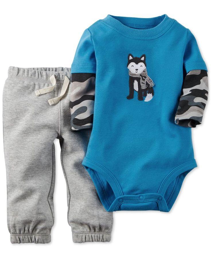 Carter's Baby Boys' 2-Piece Husky Bodysuit & Pants Set