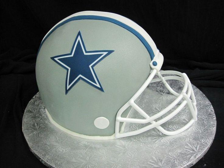 Cowboys Football Helmet Cake